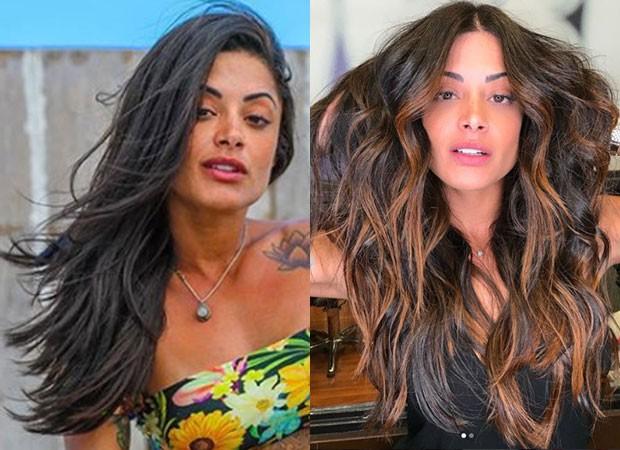 O antes e depois de Aline Riscado (Foto: Reprodução Instagram)