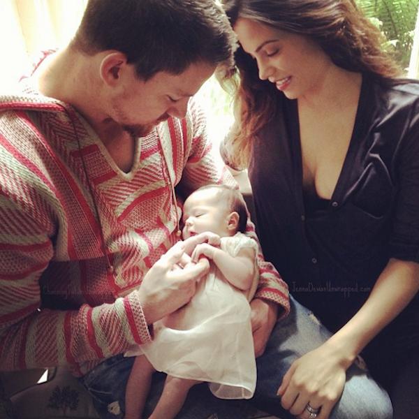 Channing Tatum, sua esposa e a filha (Foto: Instagram)