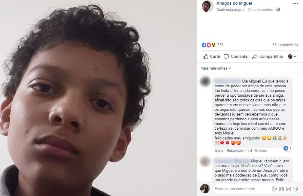 Pessoas começaram a mandar mensagens querendo ser amigas de Miguel — Foto: Reprodução/Redes Sociais