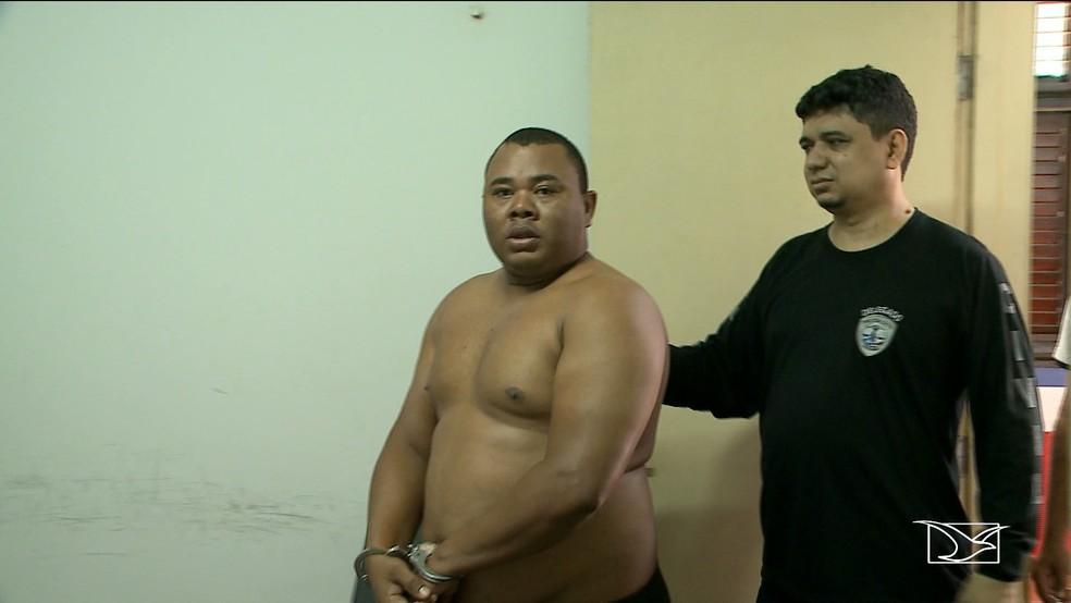 Vigilante José Arnaldo Soares foi preso por suspeita de extorsão a comerciantes em São Luís (Foto: Reprodução/TV Mirante)