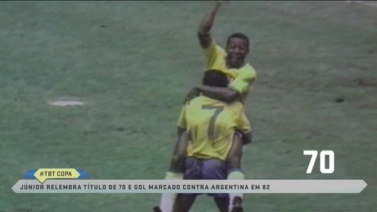 """""""TBT Copa do Mundo"""": Junior relembra momentos marcantes como torcedor e jogador da Seleção"""