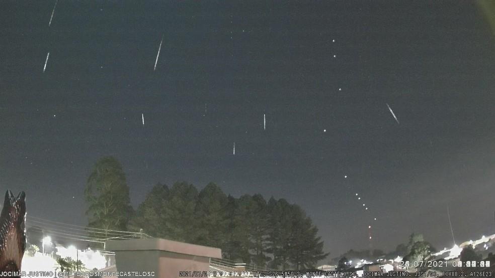 A chuva de meteoros, chamada de Delta Aquarídas do Sul, começou no dia 12 de julho — Foto: Jocimar Justino/Arquivo Pessoal