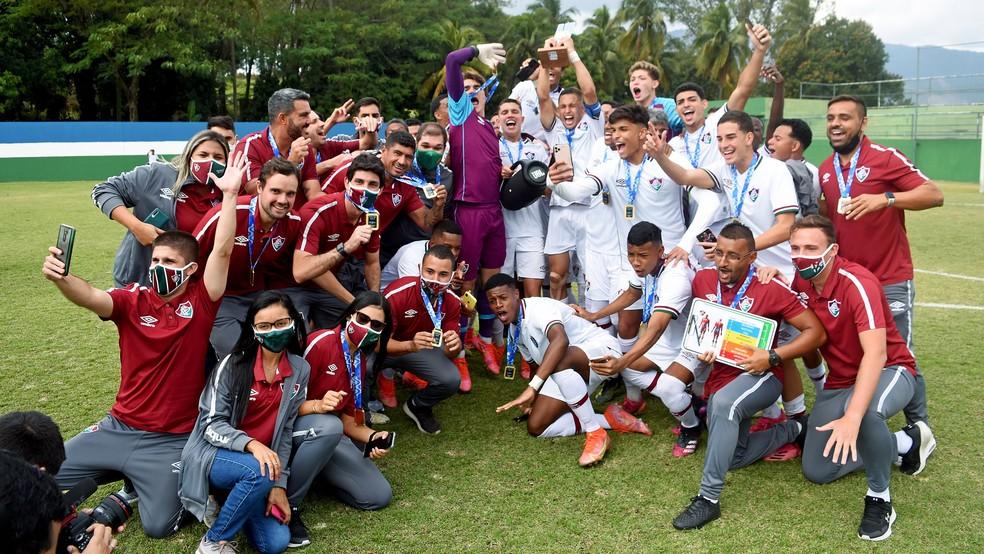 Fluminense é campeão da Copa Rio Sub-17 em 2021 — Foto: Mailson Santana FFC