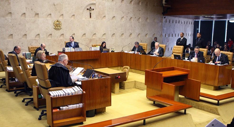Ministros do STF no plenário da Corte — Foto: Nelson Jr. / SCO / Supremo Tribunal Federal