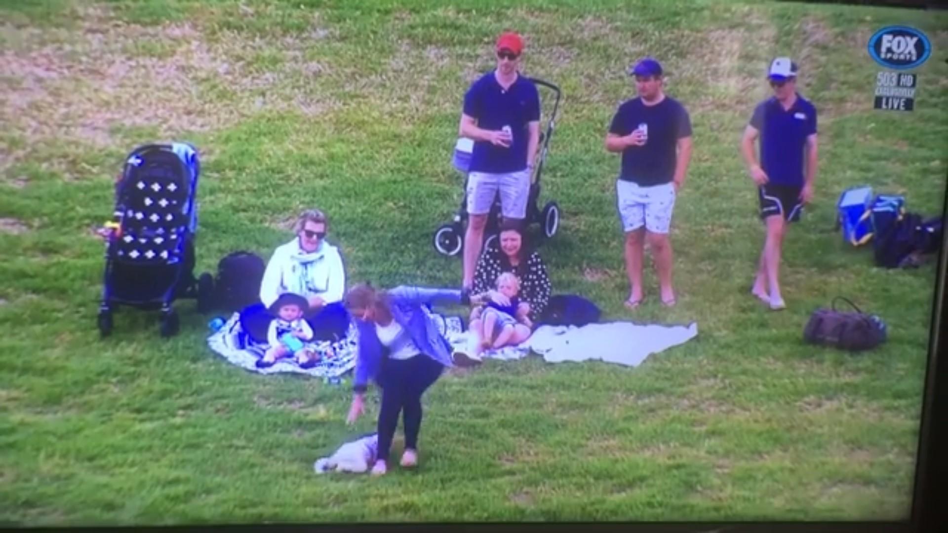 Bebê rola em gramado (Foto: Reprodução Facebook)