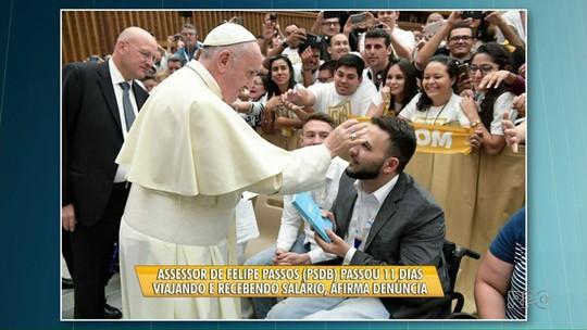 Vereadores de Ponta Grossa denunciam colega por viagem de assessor ao Vaticano