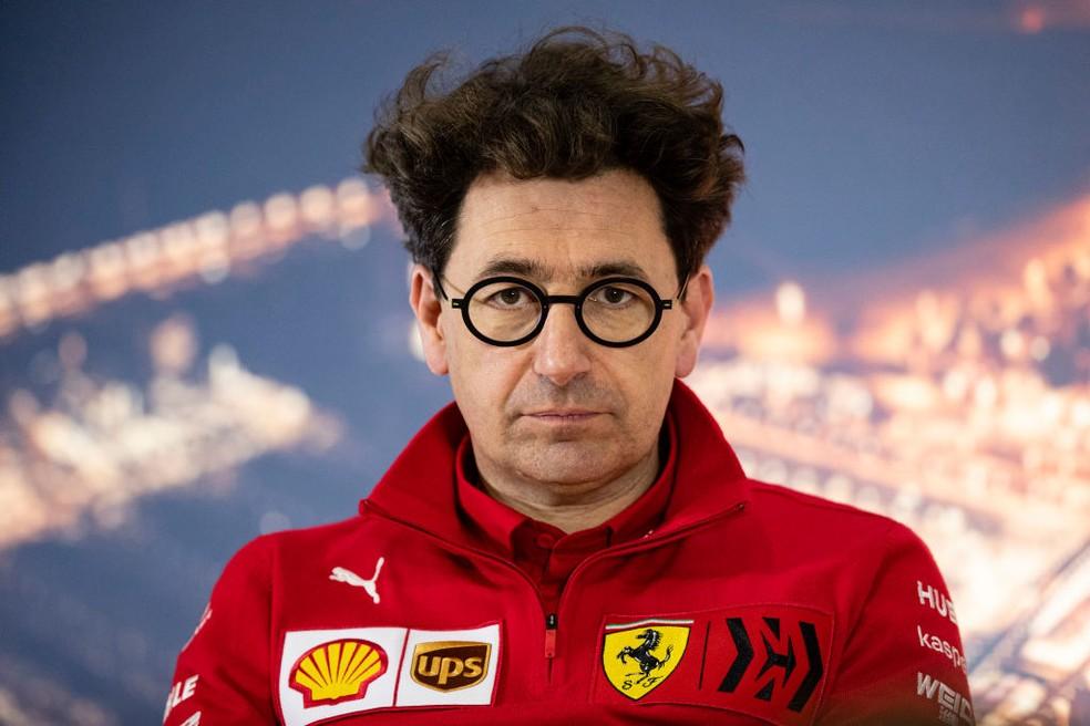 Mattia Binotto, chefe de equipe da Ferrari — Foto: Getty Images