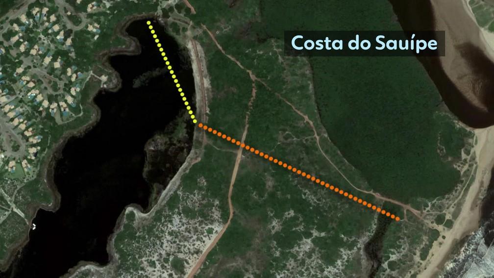 Rota percorrida pelo miliciano Adriano da Nóbrega, segundo a polícia — Foto: Editoria de Arte TV Globo