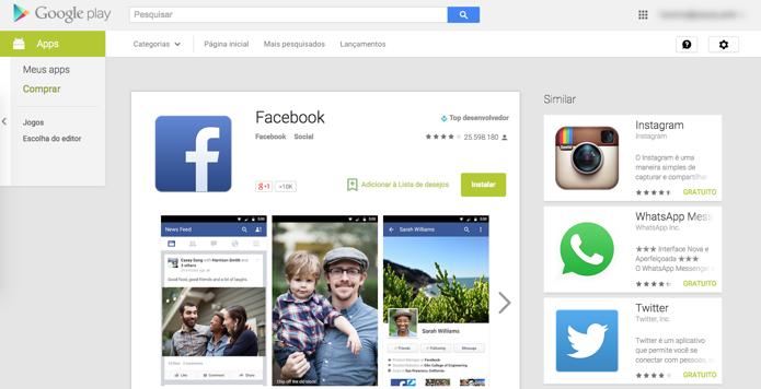 Google Play na web ganha design parecido com versão Android (Foto: Reprodução/Paulo Alves)