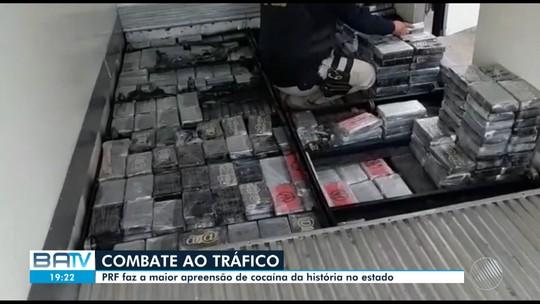 Maior carga de cocaína registrada no estado da Bahia é apreendida nesta segunda-feira
