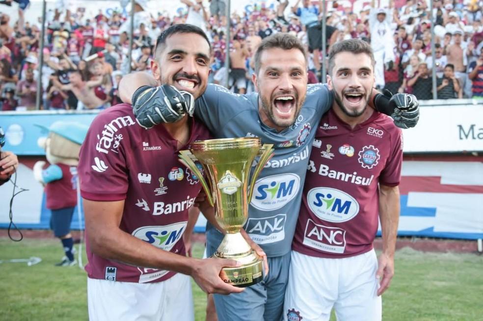Caxias faturou o primeiro turno do Campeonato Gaúcho — Foto: SER Caxias/Divulgação