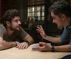 Marco Pigossi e Carlos Saldanha nos bastidores de 'Cidade invisível', da Netflix | Alisson Louback/Netflix