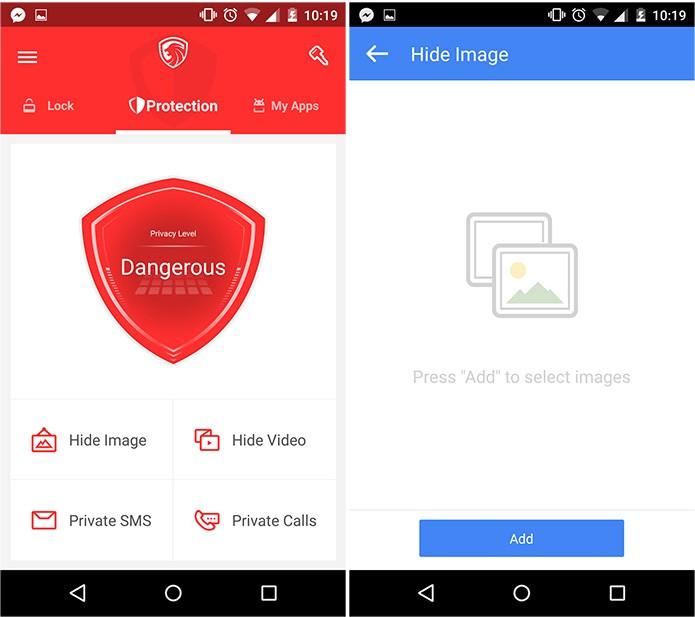 O screenshot do lado direito mostra onde as fotos e vídeos ficarão (Reprodução)