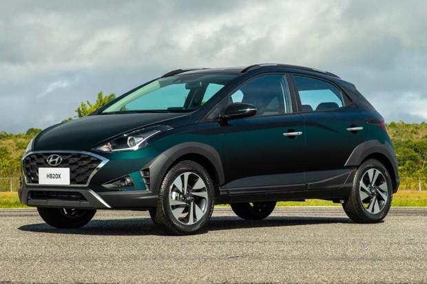 Novo Hyundai HB20X tem estilo muito parecido com o do conceito Saga (Foto: Divulgação)