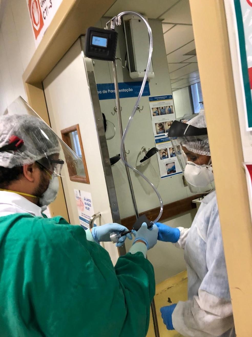 Pesquisa monitorou dois hospitais em BH — Foto: Ricardo Passos/Arquivo Pessoal
