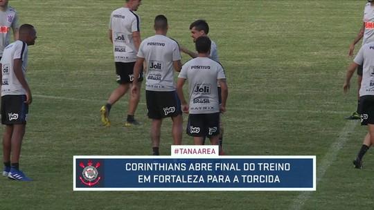 Corinthians treina em Fortaleza para partida contra o Ceará