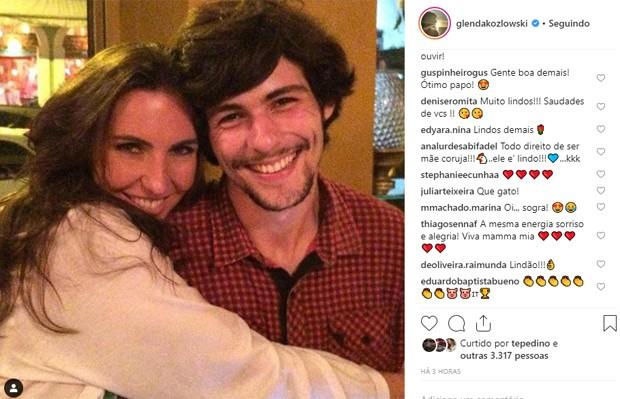 Glenda Kozlowski e o filho Gabriel (Foto: Reprodução/Instagram)