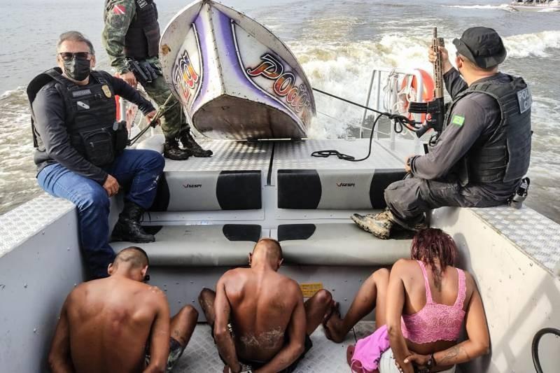 Polícia prende três suspeitos de roubarem embarcações em Igarapé-Miri, nordeste do PA