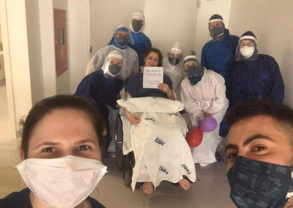 Danúbia teve alta hospitalar no dia 25 de Outubro de 2020 — Foto: Danúbia Leida/Arquivo Pessoal