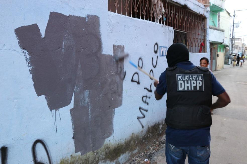 Cerca de 40 policiais participaram da ação (Foto: Divulgação/SSP-BA)