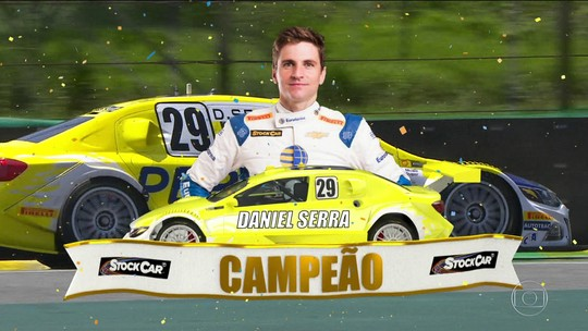 Daniel Serra chega em terceiro na corrida de Interlagos e leva o título inédito da Stock