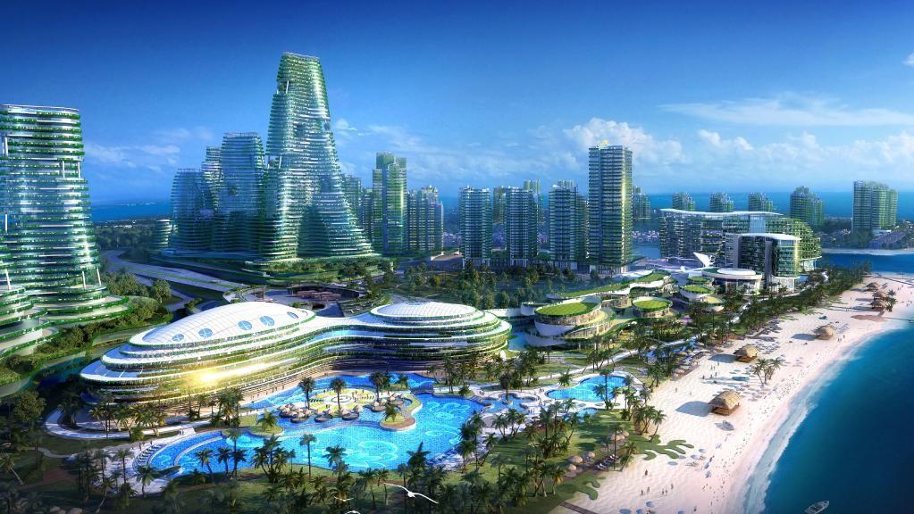 Projeto de cidade futurística na China (Foto: Divulgação)