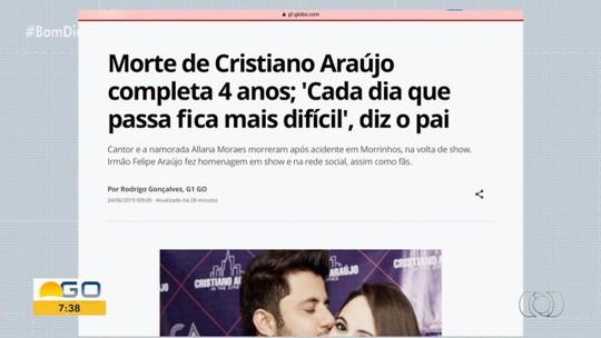 Morte de Cristiano Araújo completa 4 anos; 'Cada dia que passa fica mais difícil', diz pai