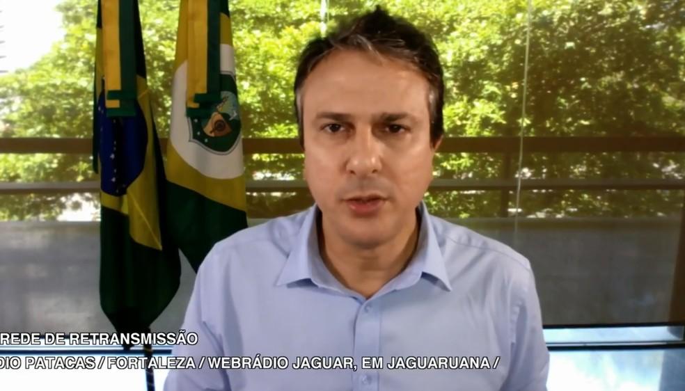 Camilo Santana anunciou pelo Facebook criação de concurso público na Secult (Foto: Facebook/Reprodução)