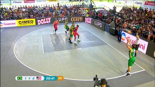 Em São Paulo, Brasil é superado por Estados Unidos na final do Desafio 3 x 3