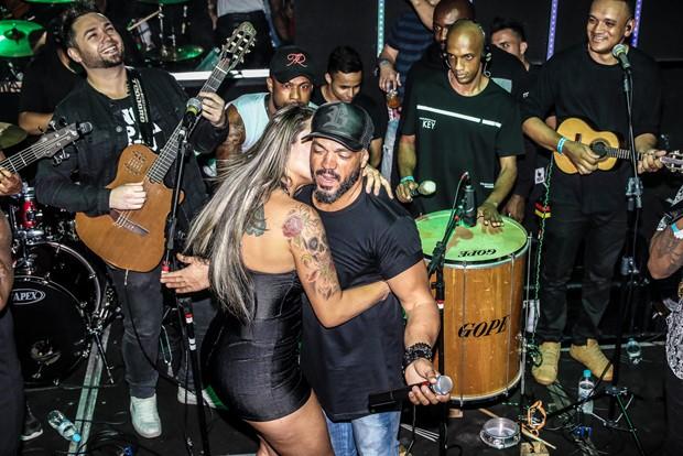 Belo e Aline Uva (Foto: Thiago Duran/AgNews)