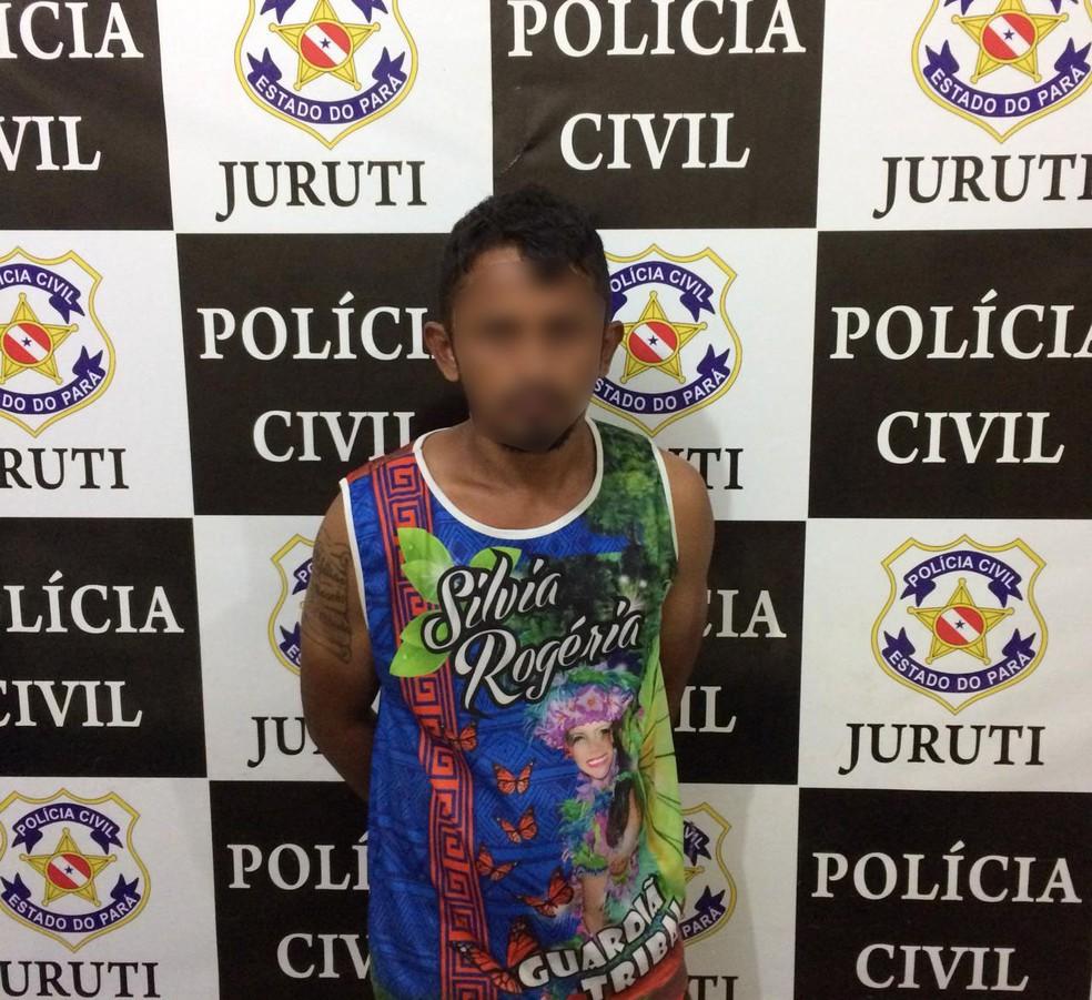 """Fagner Fernandes, conhecido como """"Grilo"""", foi preso suspeito de traficar drogas em Juruti — Foto: Polícia Civil de Juruti"""