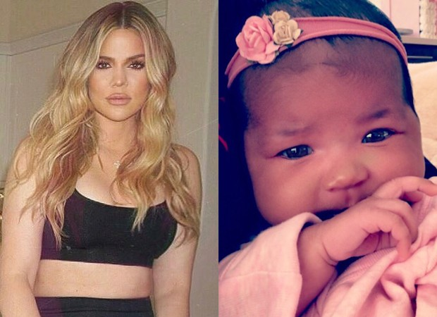 Khloé Kardashian e True (Foto: Reprodução/Instagram)