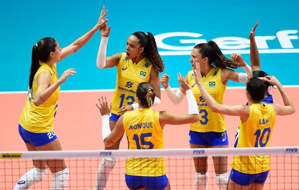 Brasil dominou a Turquia nesta terça-feira (Foto: Divulgação/FIVB)