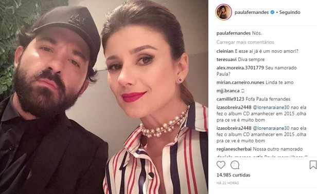 Post de Paula Fernandes que levantou suspeita de romance na web (Foto: Reprodução/Instagram)