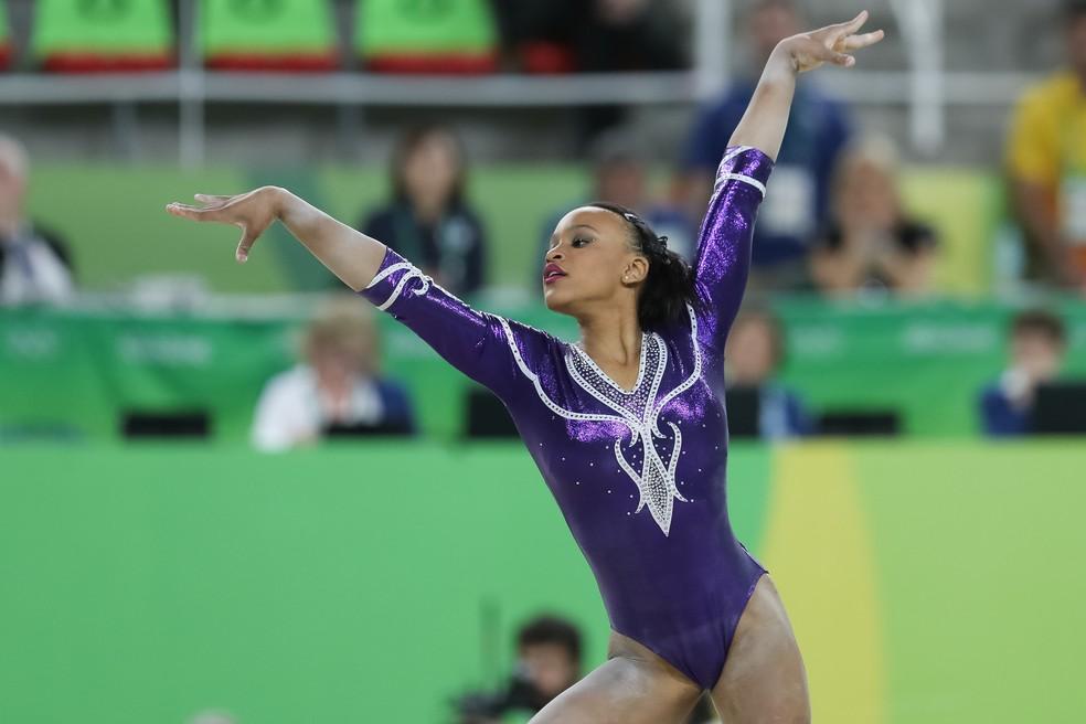 Rebeca Andrade se apresenta nos Jogos Olímpicos do Rio 2016 — Foto: Ricardo Bufolin/PanamericaPress/CBG