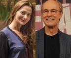 Alexandra Richter e Osmar Prado  | TV Globo