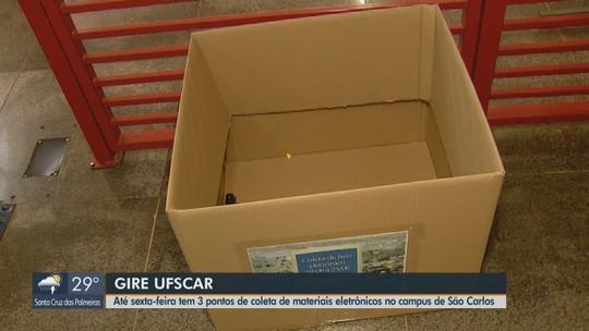 Campanha de alunos da UFSCar realiza coleta de resíduos eletrônicos em São Carlos