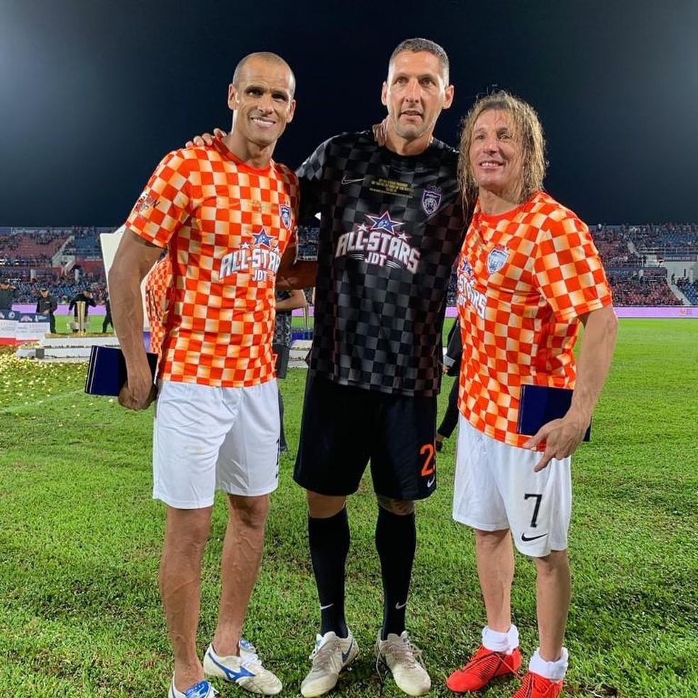 Rivaldo, Materazzi e Caniggia na Malásia — Foto: Reprodução / Instagram
