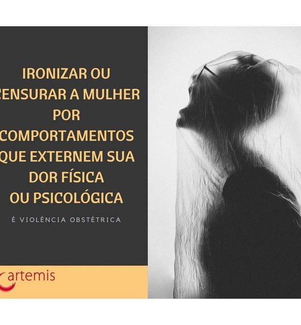 Guia da ONG Artemis explica o que é violência obstétrica (Foto: Reprodução / Instagram)
