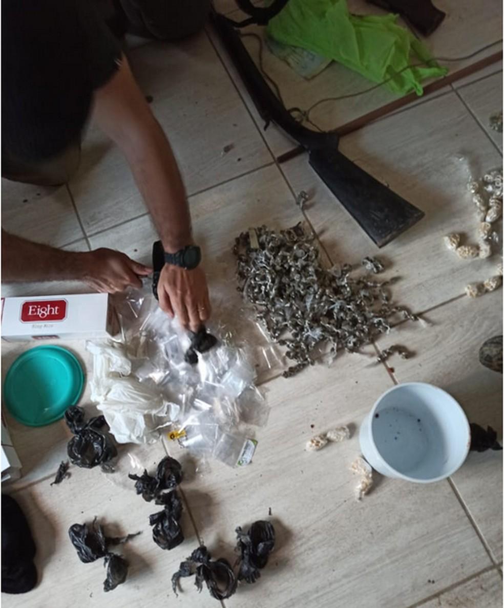 Material apreendido durante operação realizada em Altinho — Foto: Polícia Civil/Divulgação
