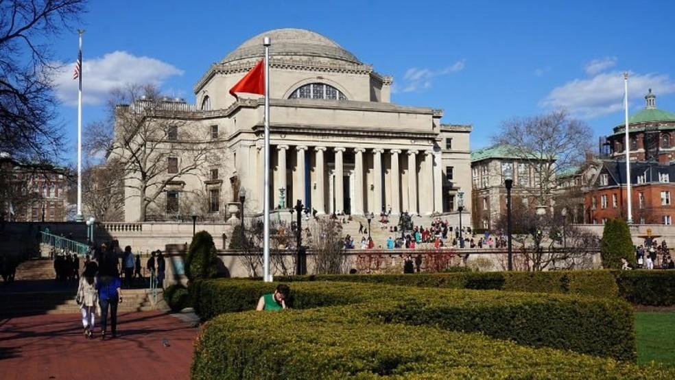 Columbia University, nos Estados Unidos — Foto: Estudar Fora/Reprodução