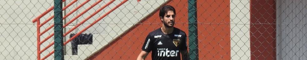 Hudson, do São Paulo, teve disputa bastante acirrada com Elias, do Atlético-MG, na enquete custo-benefício — Foto: Marcelo Hazan