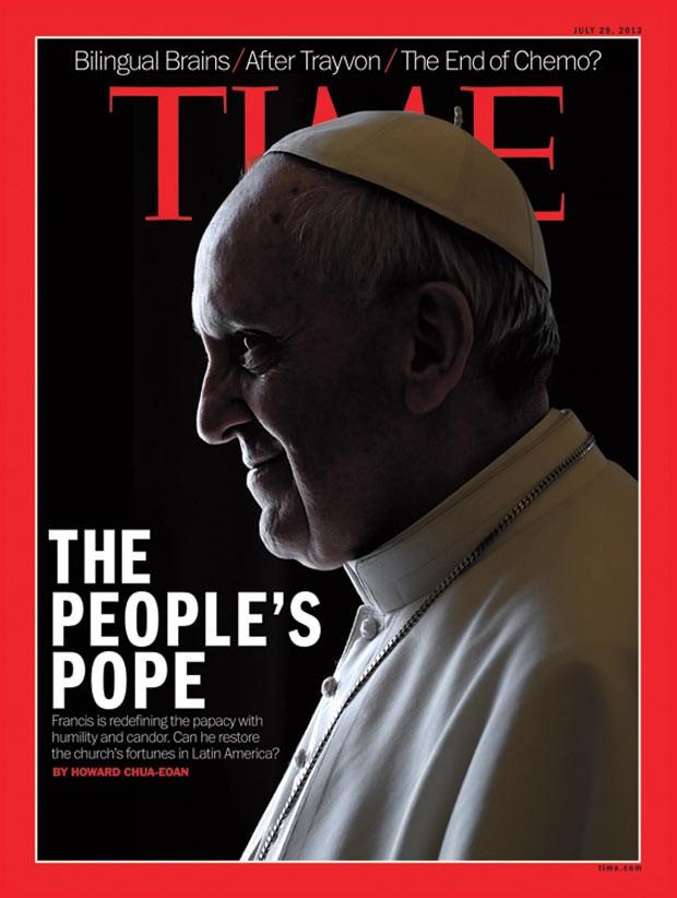 Reprodução da capa da 'Time' com o Papa Francisco (Foto: Divulgação)