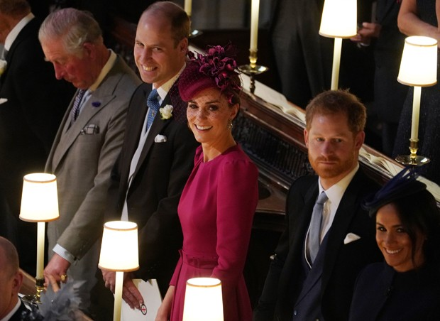 Príncipe Charles, William, Kate Middleton, Harry e Meghan Markle (Foto: Getty Images)