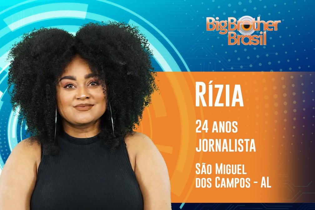 Rízia, participante do 'BBB19' — Foto: Divulgação