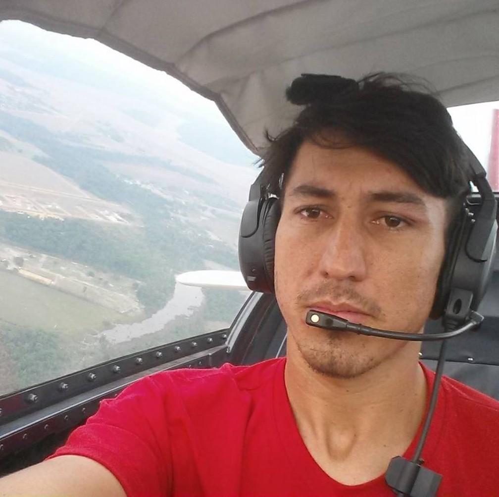 Cleiton Figueiró Rodrigues é piloto e sumiu depois de sair de Mato Grosso para ir ao Pará — Foto: Facebook/Reprodução