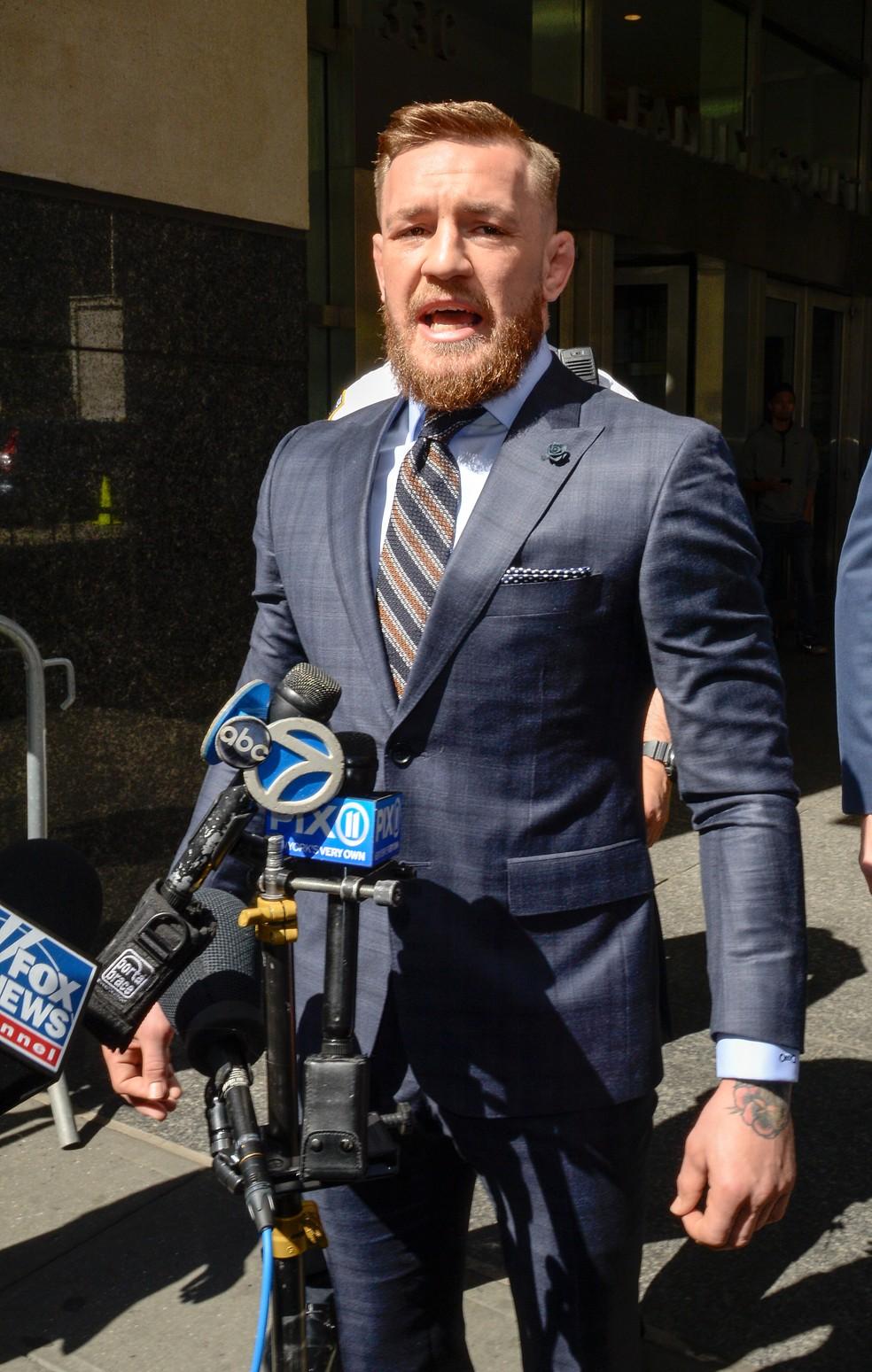 Conor McGregor garatiu arrependomento de seus atos no Brooklyn, em abril (Foto: Raymond Hall / Getty Images)