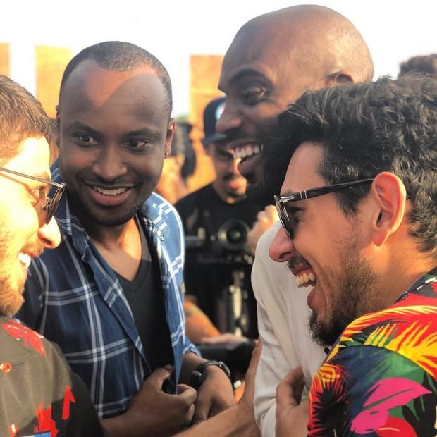 Chay Suede, Thiaguinho, Rafael Zulu e João Vicente de Castro (Foto: Reprodução/Instagram)