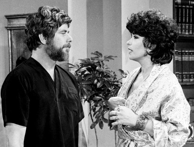 Reginaldo Faria e Lady Francisco em Transas e Caretas (1984) (Foto: Geraldo Modesto/TV Globo)