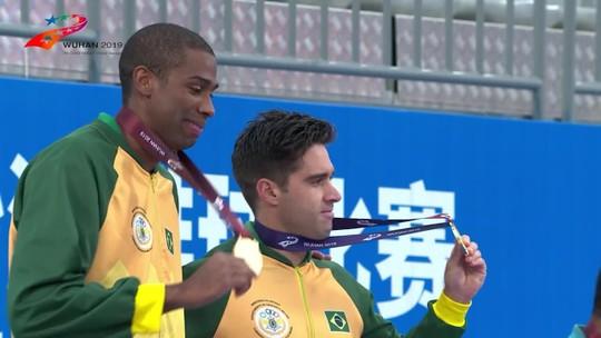 Bruno Schmidt e Evandro vencem dupla alemã e garantem ouro nos Jogos Mundiais Militares